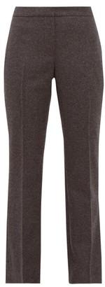 Alexander McQueen Straight-leg Tailored Wool-flannel Trousers - Womens - Light Grey