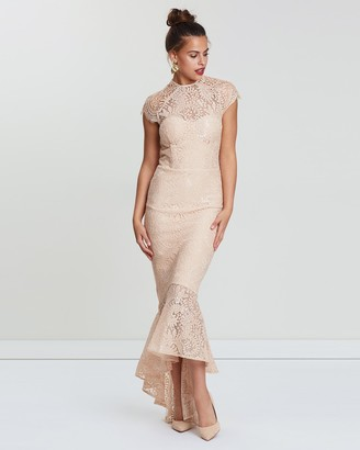 Miss Holly - Women's Nude Maxi dresses - Francis Dress - Size One Size, XS at The Iconic