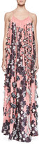 Chloé Floral Fil Coupe Sleeveless Gown, Pink