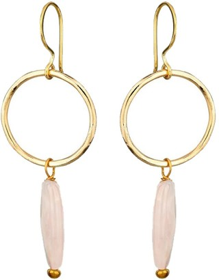 Mirabelle Jewellery Jacqui Earrings Rose Quartz