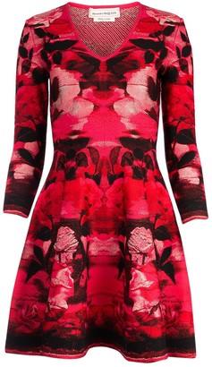 Alexander McQueen Jacquard Flared Dress