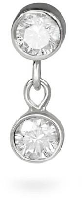 18k White Gold Diamond Duet Piercing Stud