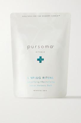 PURSOMA Unplug Ritual Detoxifying Revitalizing Lemon Verbena Bath Soak, 227g