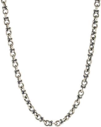 John Varvatos Plain Double Round Silver Chain
