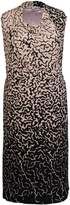 House of Fraser Chesca Plus Size Asymmetric Border Print Jersey Dress
