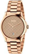 Gucci 38mm Unisex G-Timeless Bracelet Watch, Rose Golden