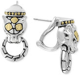 Effy Two-Tone Panther Door Knocker Earrings in Sterling Silver and 18k Gold