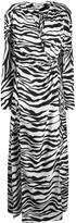 ATTICO The zebra print wrap dress