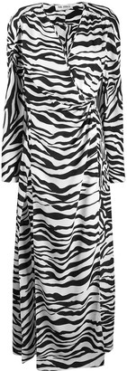 ATTICO Zebra Print Wrap Dress