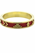 House Of Harlow Aztec Bangle with Red Leather