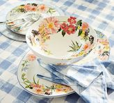 Pottery Barn Floral Rim Footed Serve Bowl