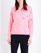 Chinti and Parker Multicolour star-motif cashmere jumper