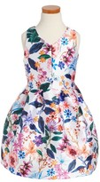 Girl's Pippa & Julie Floral Print Dress