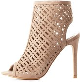 Charlotte Russe Laser Cut Peep Toe Dress Sandals