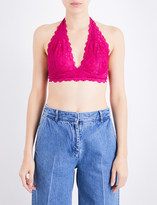 Free People Galloon halterneck stretch-lace bra