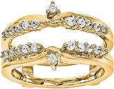 MODERN BRIDE 1/3 CT. T.W. Diamond 14K Yellow Gold Ring Guard