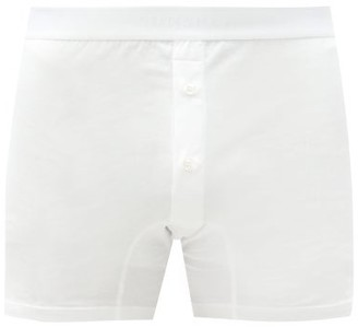 Sunspel Buttoned Superfine-cotton Boxer Briefs - White