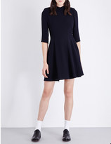 Claudie Pierlot Biarritz fit-and-flare crepe dress
