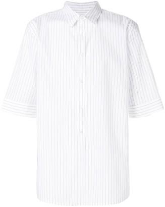 Helmut Lang short sleeves striped shirt