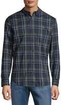 Original Penguin Men's Plaid Cotton Button-Down Shirt