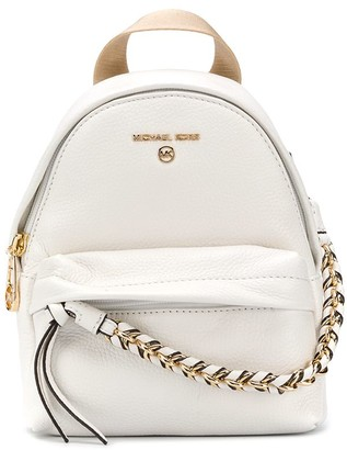 MICHAEL Michael Kors Calf Leather Backpack With Chain-Link Detailing