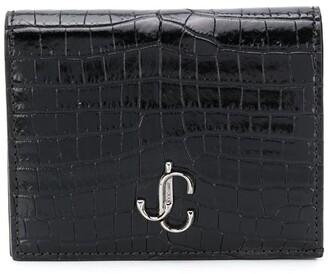 Jimmy Choo Hanne crocodile-effect wallet