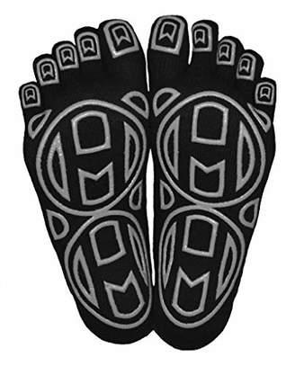 """Mato & Hash 5-Toe Exercise""""Barefoot Feel"""" Yoga Toe Socks With Full Grip - CA7000GR S/M"""