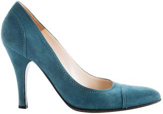 Sergio Rossi \N Blue Suede High Heel