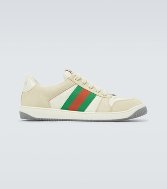 Gucci Screener nylon and leather sneakers