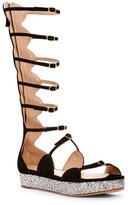 Giambattista Valli Glitter Platform Gladiator Sandal