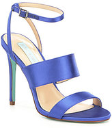 Betsey Johnson Blue by Jenna Satin Banded Ankle Strap Dress Sandals