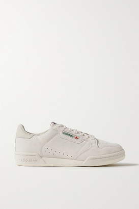 adidas Continental 80 Grosgrain-trimmed Suede Sneakers - Light gray