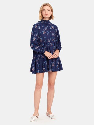 Free People Petit Fours Smock Neck Mini Dress