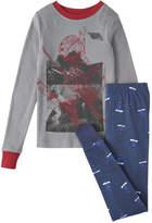 Joe Fresh Kid Boys' Print 2 Piece Sleep Set, Blue Jay (Size S)