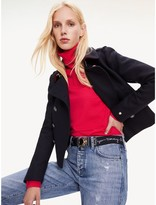 Tommy Hilfiger Cropped Wool Military Jacket