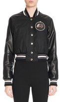 Givenchy Monkey Brothers Patch Bomber Jacket, Black