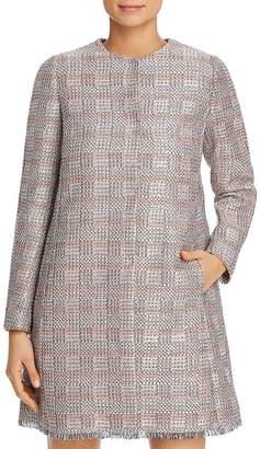 Giorgio Armani Metallic Check-Pattern Coat
