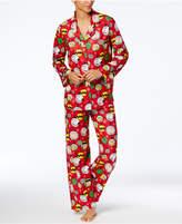 Briefly Stated Women's Peanuts-Print Pajama Set