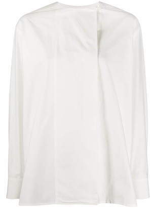 Paul Smith Long-Sleeved Collarless Blouse