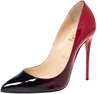 Christian Louboutin Two Tone Patent Leather Ombre So Kate Pumps Size 38