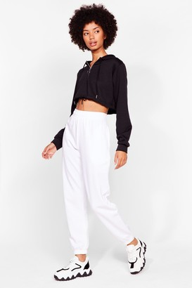 Nasty Gal Womens Comfort is Queen Oversized Joggers - White - 8