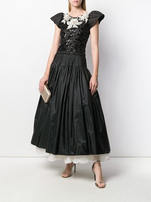 Valentino Pre Owned Embroidered Ball Gown