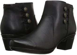 Clarks Emslie Monet (Black Leather) Women's Boots