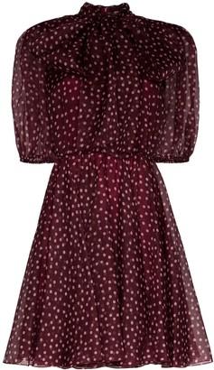 Dolce & Gabbana polka-dot organza mini dress