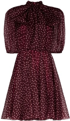 Dolce & Gabbana Polka-Dot Organza Mini Dress