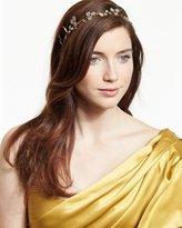 Jennifer Behr Crystal Flower Headband, Golden