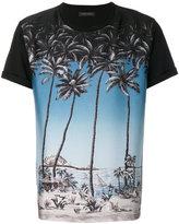 Christian Pellizzari palm tree print T-shirt