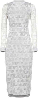 Fendi FF Monogram Fitted Dress