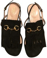 Gucci Marmont Black Suede Sandals