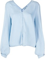 Forte Forte puff sleeve denim blouse